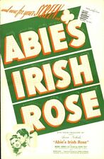 ABIE'S IRISH ROSE pressbook, Joanne Dru, Michael Chekhov, Richard Norris