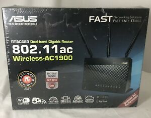 ASUS RT-AC68R AC1900 Mbps 4 Port Gigabit Wireless AC Router New & Sealed