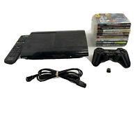 Sony PS3 PlayStation 3 Super Slim 500GB Console CECH-4301C Controller Game Lot