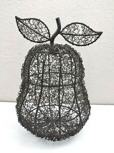 Metal Wire Pear Fruit Decor Large 10''