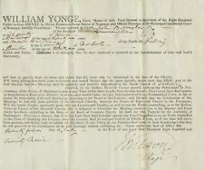 GB 1829 WEDDING CERTIFICATE by WILLIAM YONGE in spirituals of HENRY LORD BISHOP