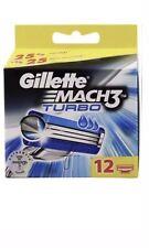 12 Gillette MACH3 Turbo Rasierklingen, 12er-Packung, Original Klingen neu/OVP
