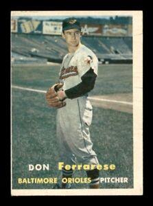 1957 Topps Set Break # 146 Don Ferrarese VG Surface Wear *OBGcards*