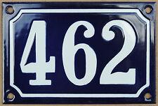 Blu Francese numero di casa 462 cancello piatto placca smaltata acciaio