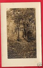 RPPC PATH IN THE WOODS WITH WOOD BRIDGE OVER CREEK