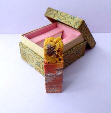 Vieux Chinois finement sculpté shoushan Stone Chop, 5 Dragons, Chop Seal, Boxed,