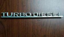Mercedes Benz Turbodiesel Diesel Trunk Emblem W126 Turbo Diesel 300SD 300SDL vg