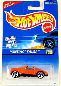1996 Hot Wheels Blue Card Mainline Pontiac Salsa Orange w 3sp Collector #596