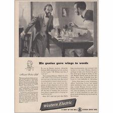 1947 Western Electric: Alexander Graham Bell Wings to Words Vintage Print Ad