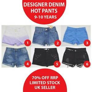 Girls Denim Hot Pants Shorts 9-10 Years Brand New MORE THAN 70% OFF(HT9-10-1)