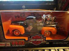 Maisto Muscle Machine 1:24 Scale Harley Davidson '48 Ford Pickup & '58 Duo Glide