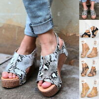 Sandales Compensées Femme Chaussures  À Talons Hauts Plateforme Espadrilles 04