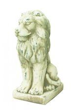 Schöne Dekofigur sitzender Löwe, Skulptur, Statue, Tierfigur, Ambiente, 29 cm
