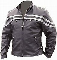 Mens  Motorbike Leather Jacket Motorcycle Sport Vintage Leather Jackets