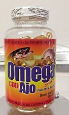 New Seal Omega 3 6 9 capsules Con Ajo Fish Oil and Garlic 200 Softgels