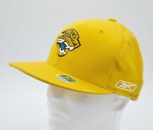 New DS Rare Reebok Jacksonville Jaguars Yellow/Gold Alternate Fitted Hat Rare