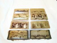 8 Antique Photo Stereoview Cards - Underwood & Underwood - People Rome Wedding