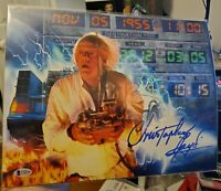Back To The Future Christopher Lloyd Autograph Signed 11x14 Photo Beckett COA