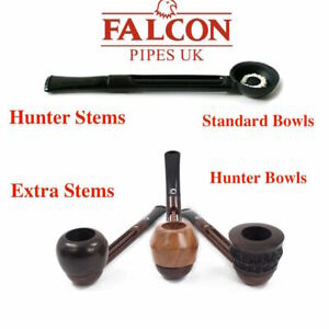 NEW Falcon Create Your Own Extra and Hunter Pipe Stems with All Bowls Hunter