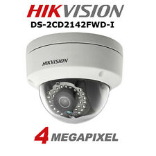 Hikvision Ds-2cd2142fwd-i 4mp WDR Fixed Dome Network Poe Camera HD 4mm Lens Ip67