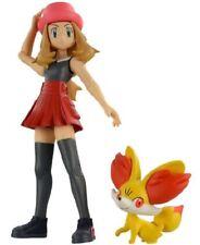 Takara Tomy Pokémon Monster Collection Serena & Fennekin Pvc Figures New