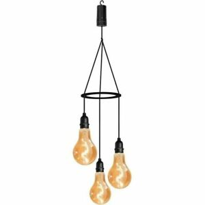 Luxform Battery Powered Indoor Outdoor Pendulum Hanging Pendant Light with Timer