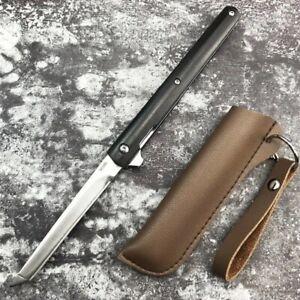 M390 Tanto Blade Wooden Handle Tactical Outdoor Survival Pocket Folding Knife