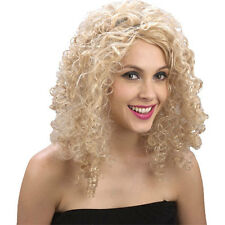 Ladies Curly Blonde (Saloon Girl) Wig Outfit Accessory for Fancy Dress Womens