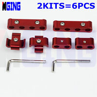 Engine Spark Plug Wire Separator Divider Clamp Kit For 7mm 8mm 6pcs Red