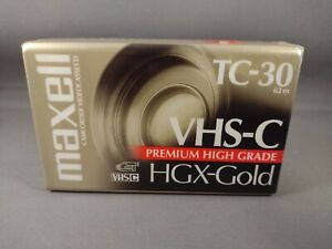 New Maxell VHS-C Tape TC-30 HGX-Gold Camcorder Video Camera Cassette (B)