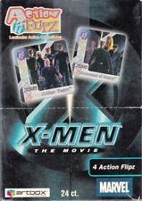 X-MEN THE MOVIE ACTION FLIPZ 2000 ARTBOX TRADING CARD BOX OF 24 PACKS LENTICULAR