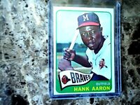 1965 TOPPS HANK AARON ATLANTA BRAVES #170 AWESOME CONDITION