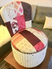 Jolie petite chauffeuse fauteuil de chambre patchwork