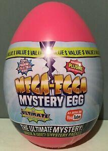 "Mega-Egga Ultimate Surprise Giant Mystery Egg - Pink 15"" Jumbo Mega-Egga - NEW"