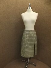 Fall Winter Season NEW Vtg Mid '60s Marvelous Tan Black Plaid A Line Skirt Sz 14