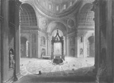 ITALY. Interior of St Peter's Rome c1856 old antique vintage print picture