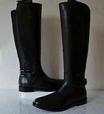 "NEW CLARK`S ""EDALENA WISH"" BLACK LEATHER KNEE HIGH RIDING BOOTS UK 4.5 EE RP£145"