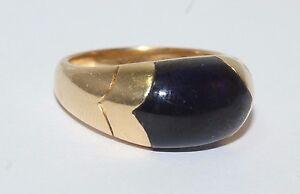Bvlgari Gold Ring - 18ct Yellow Gold Tronchetto Lapis Gemstone Ring Size N