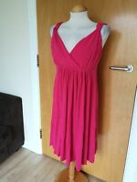 Ladies MOTHERCARE Dress Size 18 Pink Ruched Maternity Pregnancy Stretch