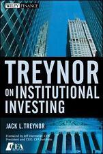 Wiley Finance: Treynor on Institutional Investing 402 by Jack L. Treynor...