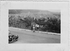 altes s/w Foto Ausflug mit Citroën Oldtimer Kennzeichen Frankreich Côte d'azur