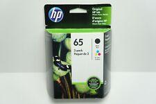 HP 65 Black & Tri-color Ink Cartridges Exp June 2019 T0a36an