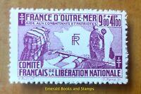 """EBS French Colonies 1943 France Libre - """"Pour l'aide aux combattants"""" - CF 64"""