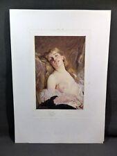 Eugène Gaujean - Eau-forte couleur d'après Charles Chaplin - Jeune fille dénudée
