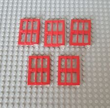 Lego City System 5x Tür Rot 1x4x5 Door Red 10182 73312 4886 (12)