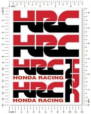 HRC Honda Racing Motorcycle 5 Decals Laminated Stickers Set cbr600rr cbr1000rr