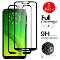 For Motorola Moto G7 Play - FULL COVER Tempered Glass Screen Protector [2-Pack]
