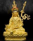 8  Tibet Buddha Bronze Gilt Guru Padmasambhava Rinpoche Buddhism Lotus Statue