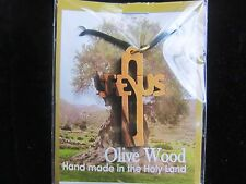 Olive Wood from the Holy Land - HAND MADE - JESUS Cross - No two are the same