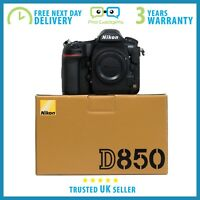 New Nikon D850 45.7MP FX CMOS Sensor 4K Video Full Frame DSLR - 3 Year Warranty